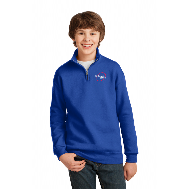 ST.DENNIS  995Y ROYAL, Youth 1/4-Zip Cadet Collar Sweatshirt