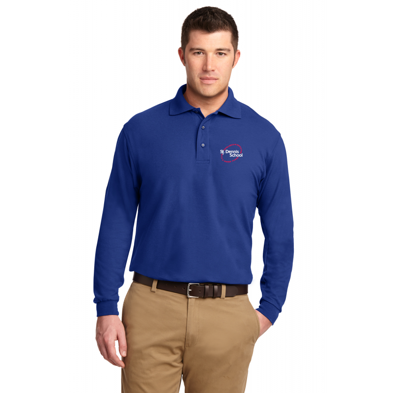 St. Dennis,K500LS Port Authority® Silk Touch™ Long Sleeve Polo