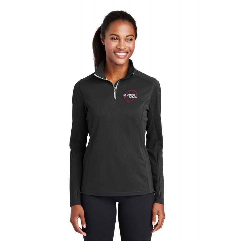 St.Dennis, LST860, Adult Ladies Sport-Wick® Stretch 1/2-Zip Pullover