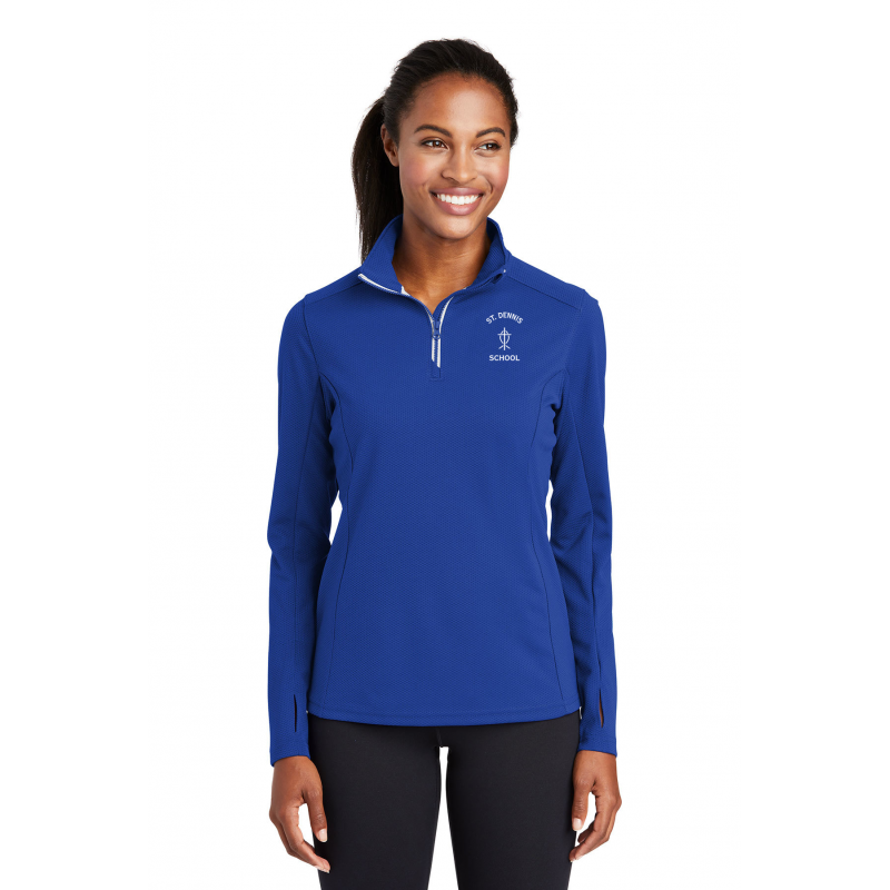 St.Dennis, LST860, Adult Ladies Sport-Wick® Stretch 1/2-Zip Pullover