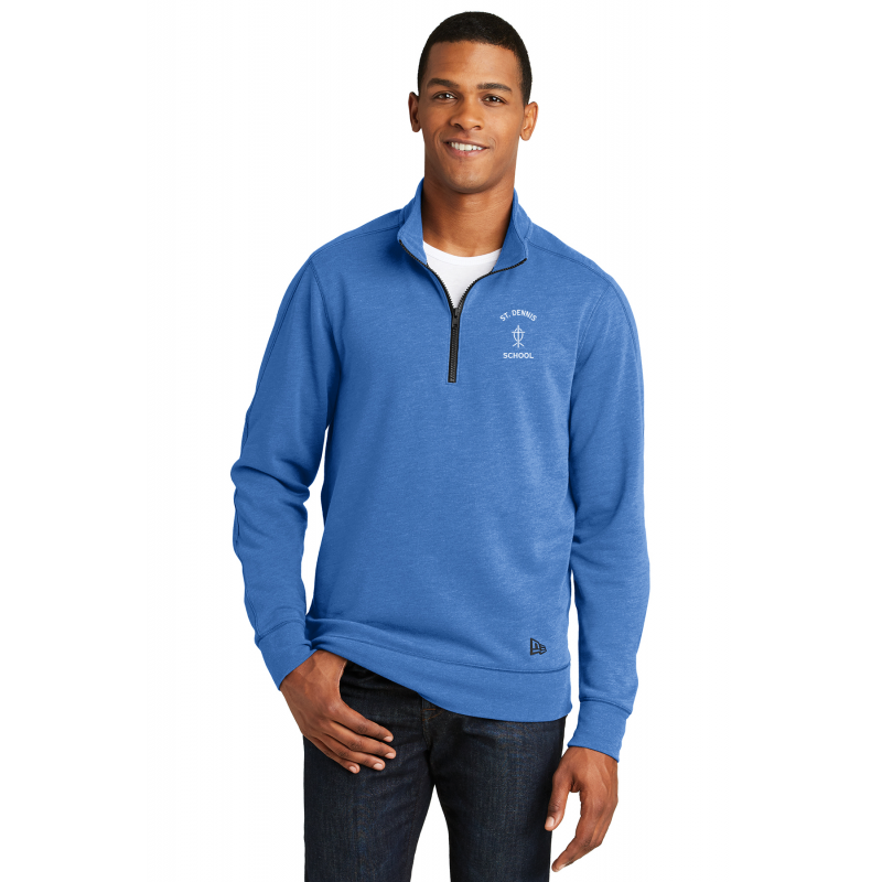 NEA512  New Era® Tri-Blend Fleece 1/4-Zip Pullover