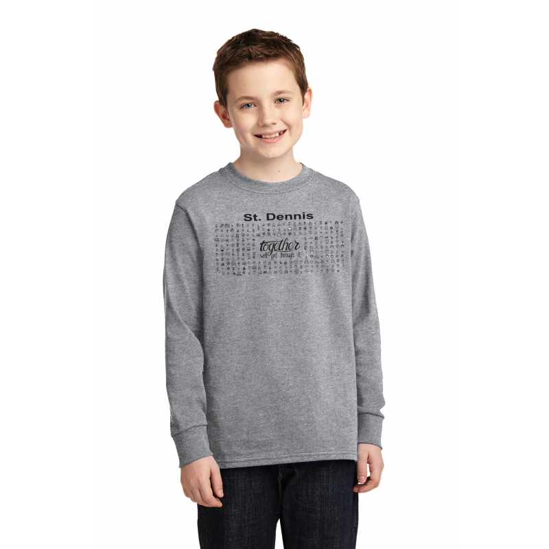 TOGETHER, PC54YLS  Port & Company® Youth Long Sleeve Core Cotton Tee