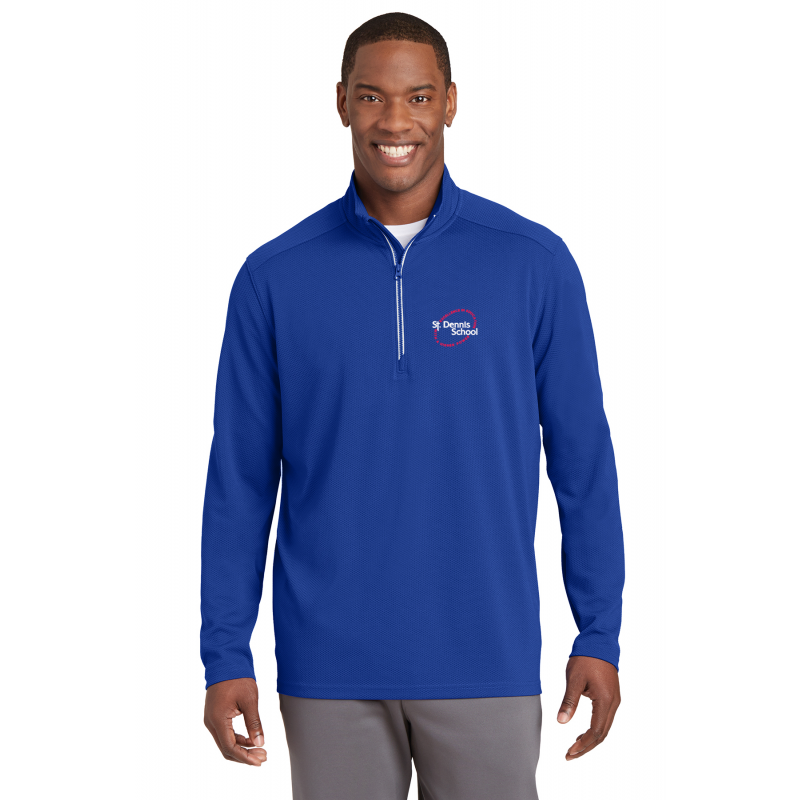 St.Dennis, ST860, Adult Sport-Wick® Stretch 1/2-Zip Pullover